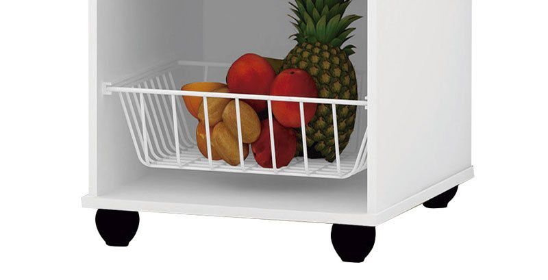Fruteira Mel Branco Brilho - Trinobél Móveis