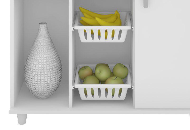 Fruteira Multiuso Yara Branco - Madine