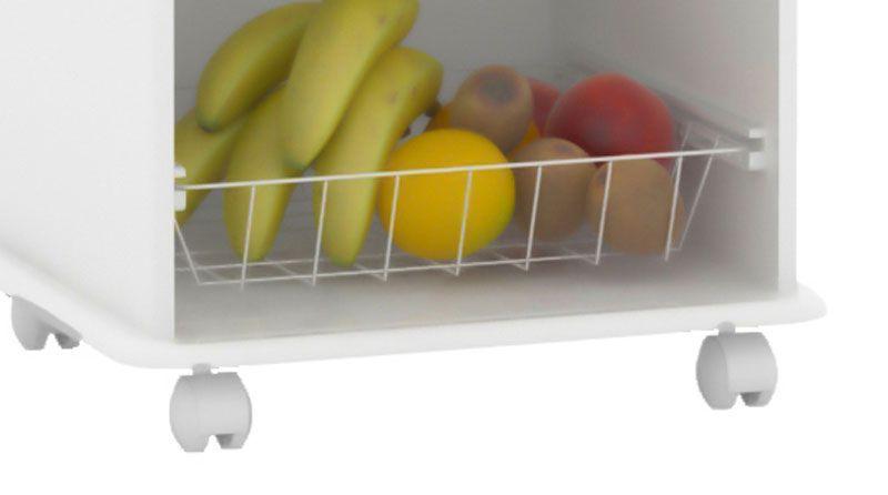 Fruteira New Branco com Mármore - EJ Móveis