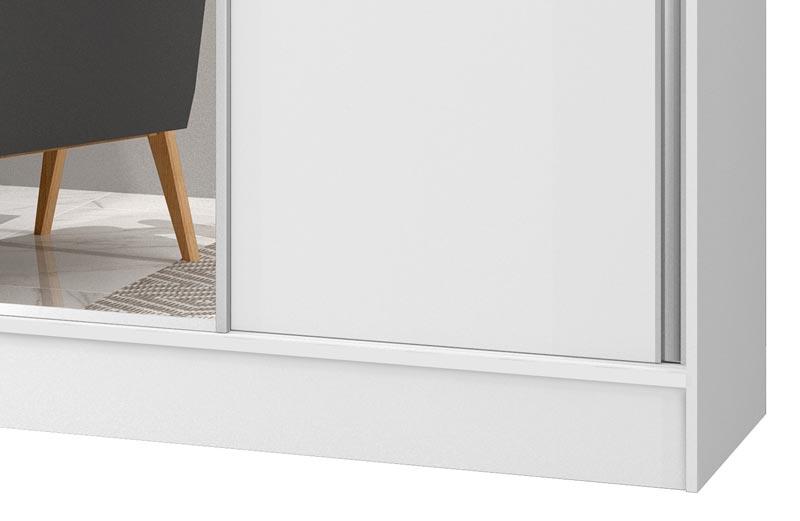 Guarda-Roupa 2 Portas de Correr com Espelho Geórgia Plus Branco - JeA Móveis