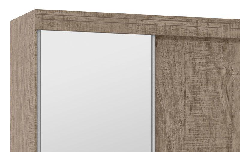 Guarda-Roupa 2 Portas de Correr com Espelho Mustang Cacau - Fênix