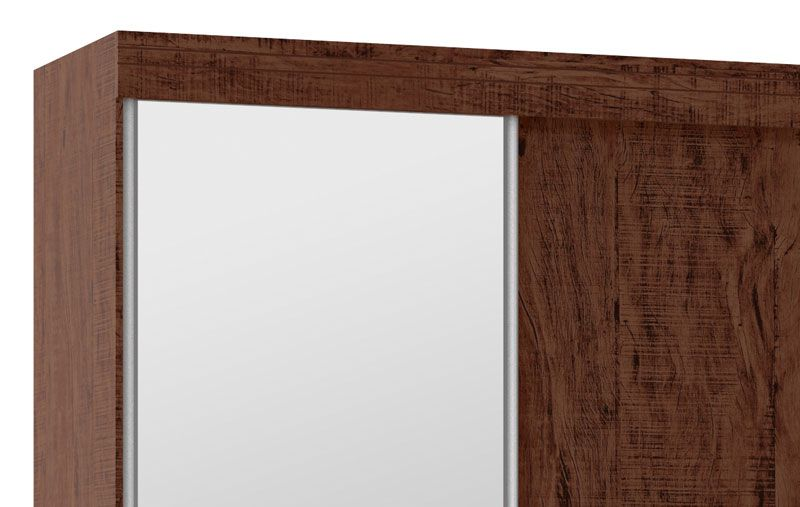 Guarda-Roupa 2 Portas de Correr com Espelho Mustang Pinhão - Fênix