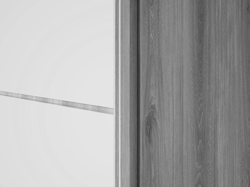 Guarda Roupa 2 Portas de Correr com espelhos Agata Branco - FabriMoveis