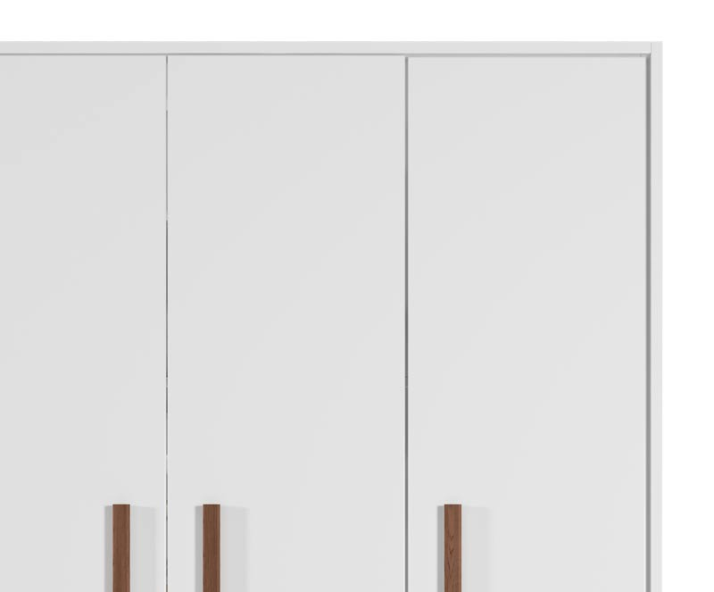 Guarda-Roupa 3 Portas 2 Gavetas Floc Branco - MoveisAqui