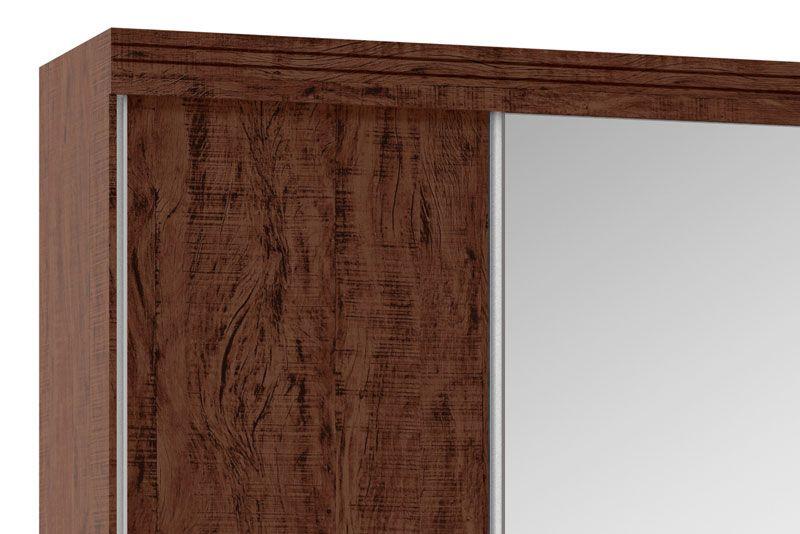 Guarda-Roupa 3 Portas de Correr com Espelho Mustang Pinhão - Fênix