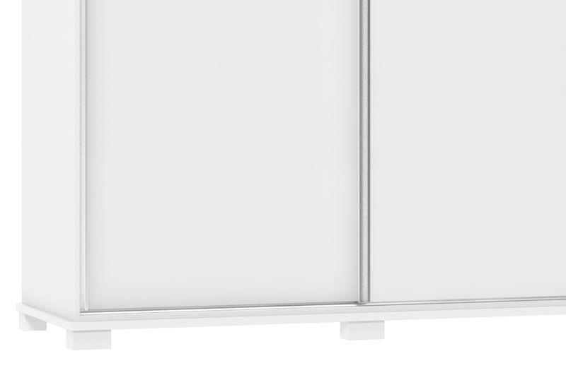 Guarda-Roupa 3 Portas de Correr Mustang Branco - Fênix