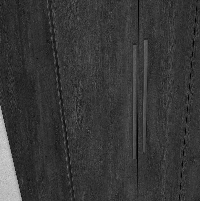 Guarda Roupa 4 Portas Ágata Noce - Fabrimóveis