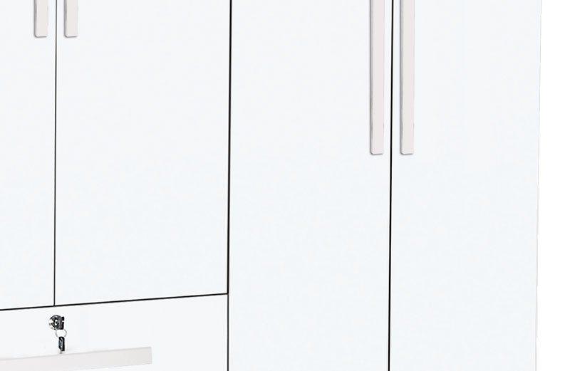Guarda-Roupa 4 Portas Branco Brilho - Trinobél Móveis
