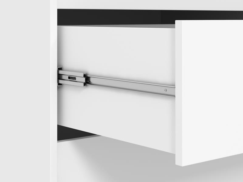 Guarda-Roupa 4 Portas com Espelho Jaguar Branco - Fênix