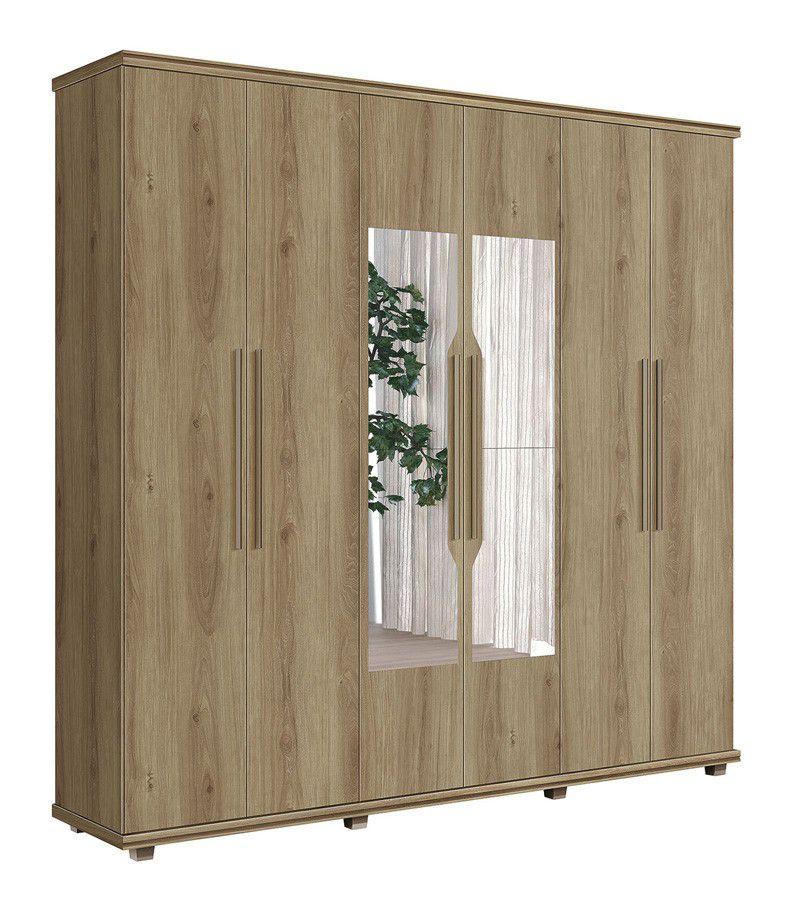 Guarda-Roupa 6 Portas Ágata com espelho Niágara - FabriMóveis