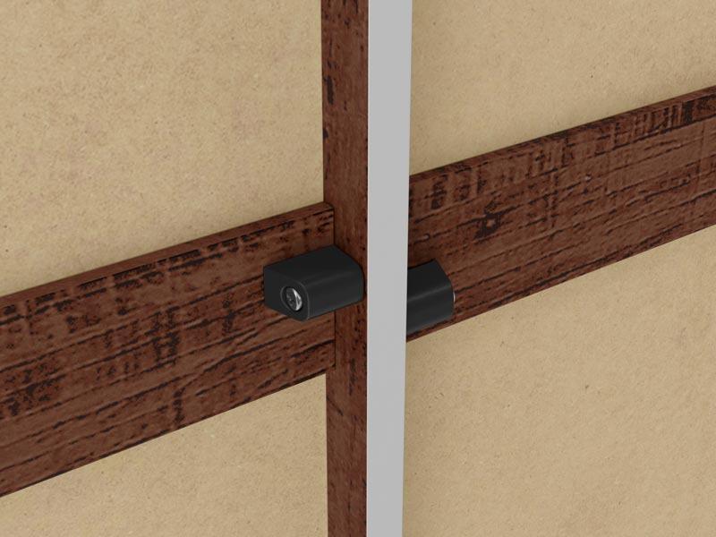 Guarda-Roupa 6 Portas com Espelho Sentra Pinhão - Fênix