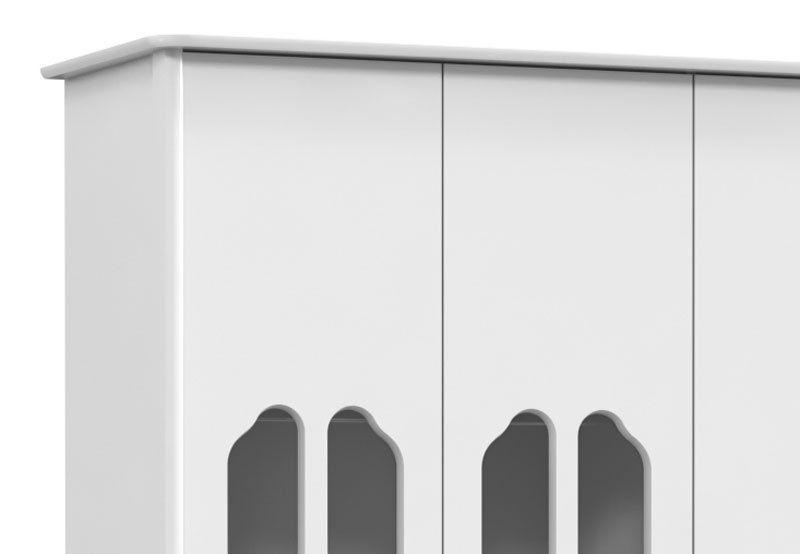 Guarda-Roupa Amore 3 Portas Branco Soft - Matic Móveis
