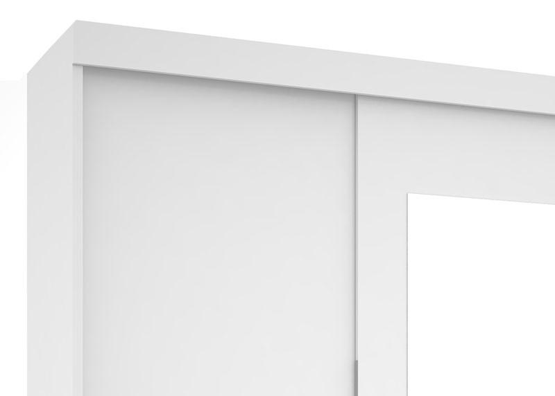 Guarda Roupa BH Plus III com espelho Branco - Mirarack