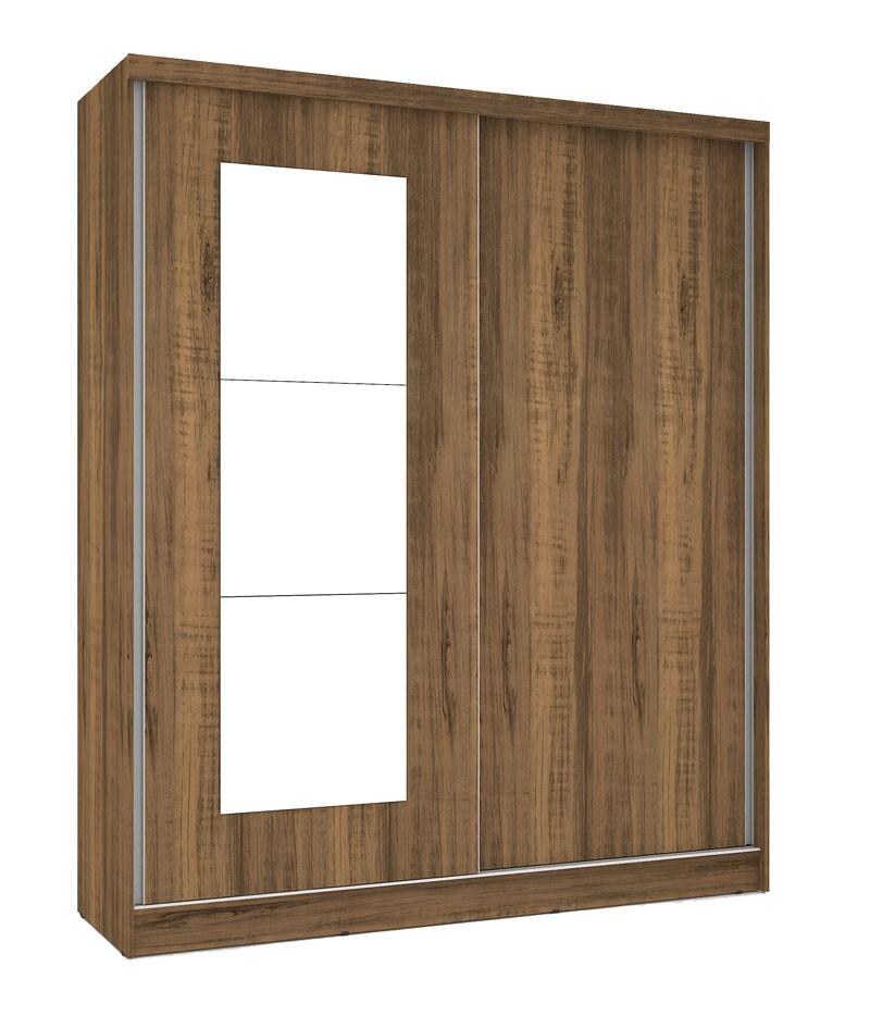 Guarda Roupa Blumenau Plus III com espelho Rústico - Mirarack  - MoveisAqui - Loja de móveis online!