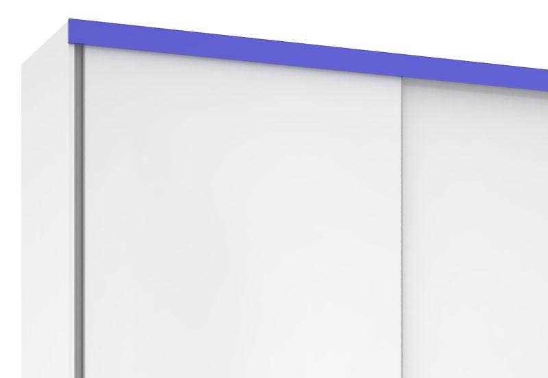 Guarda Roupa Blumenau Plus III Branco com Azul - Mirarack