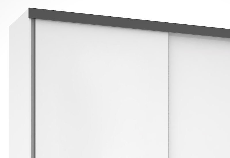 Guarda Roupa Blumenau Plus III Branco com Preto - Mirarack  - MoveisAqui - Loja de móveis online!