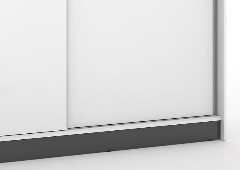 Guarda Roupa Blumenau Plus III Branco com Preto - Mirarack