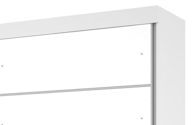 Guarda-Roupa Camboriu com Espelho Branco com Canela - Mirarack