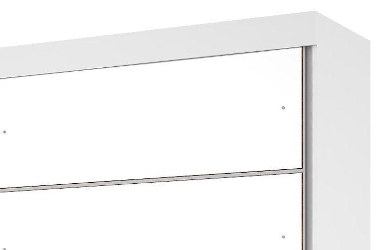 Guarda-Roupa Camboriu com Espelho Branco - Mirarack