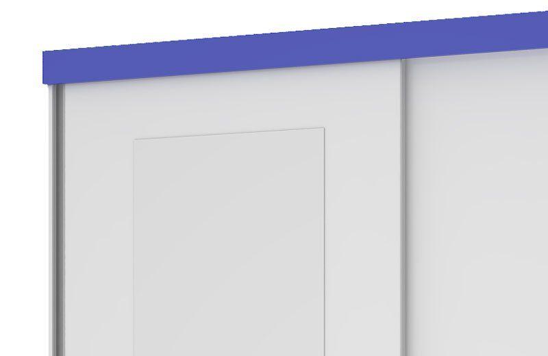 Guarda-Roupa Caribe com Espelho Branco com Azul - Mirarack