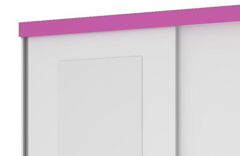 Guarda-Roupa Caribe com Espelho Branco com Rosa - Mirarack