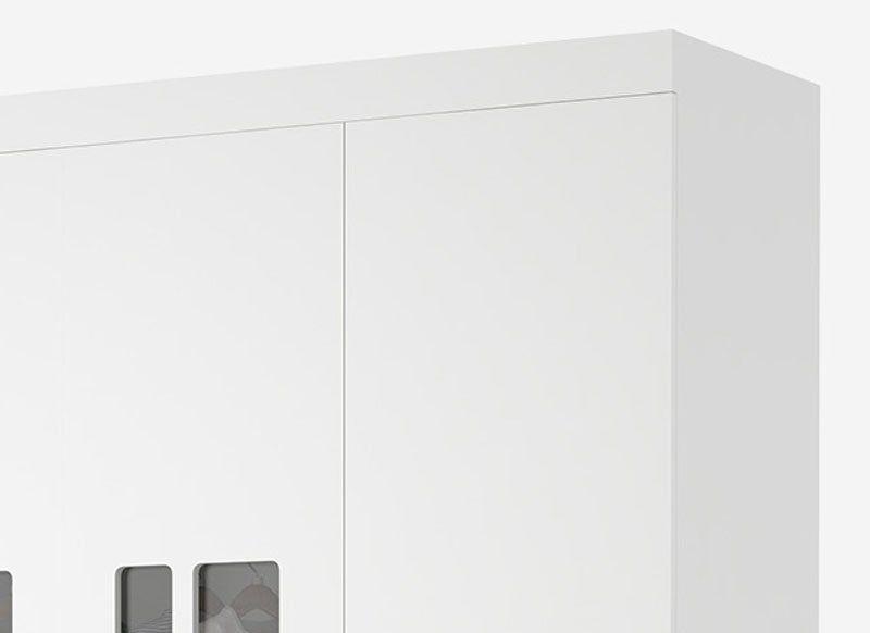 Guarda-Roupa Infantil Davi 3 Portas Branco - Imaza Móveis