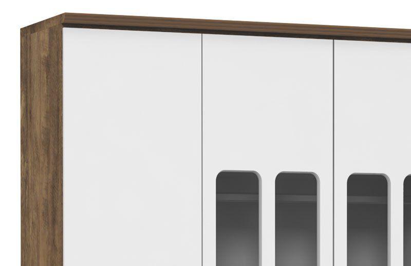Guarda-Roupa Delicato 4 Portas Branco Soft com Teka - Matic Móveis