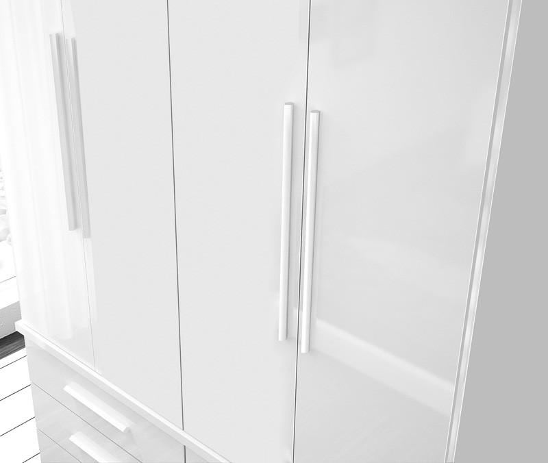 Guarda Roupa Duplex 4 Portas Rubi Branco - FabriMóveis