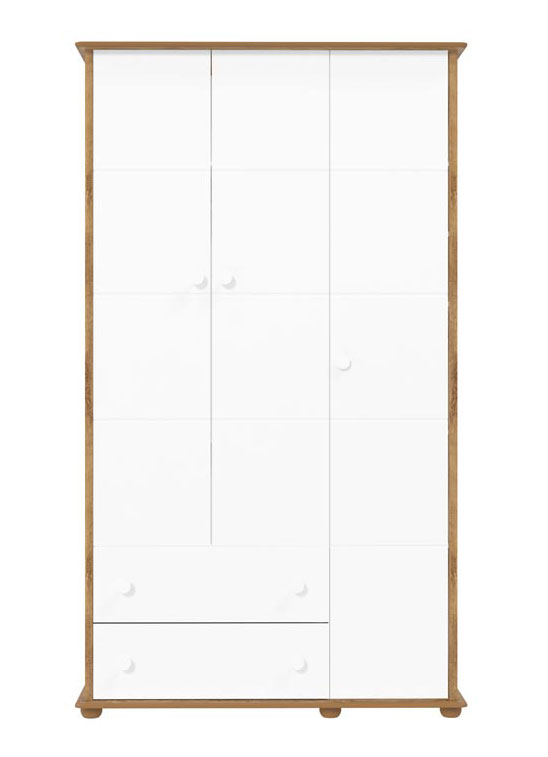 Guarda-Roupa Fratelli 3 Portas Branco Fosco com Teka - Matic Móveis