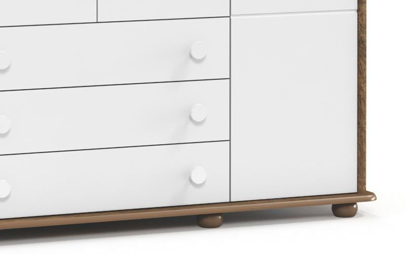 Guarda-Roupa Fratelli 4 Portas Branco Soft com Teka - Matic Móveis