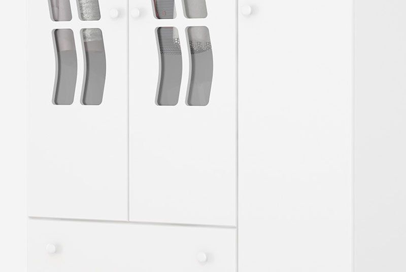 Guarda-Roupa Infantil Julia 3 Portas Branco Acetinado - Imaza Móveis