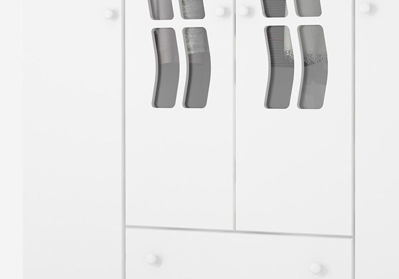 Guarda-Roupa Infantil Julia 4 Portas Branco Acetinado - Imaza Móveis