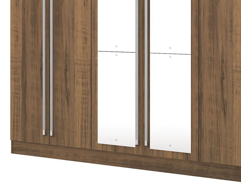 Guarda Roupa Itapema Plus III com espelho Rústico - Mirarack  - MoveisAqui - Loja de móveis online!