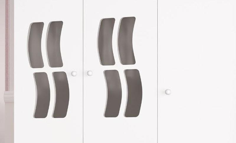 Guarda Roupa Jaana 3 Portas Branco Brilho - Imaza Moveis