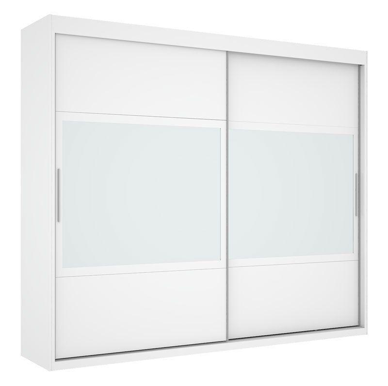 Guarda-Roupa Joinville com Espelho Branco - Mirarack