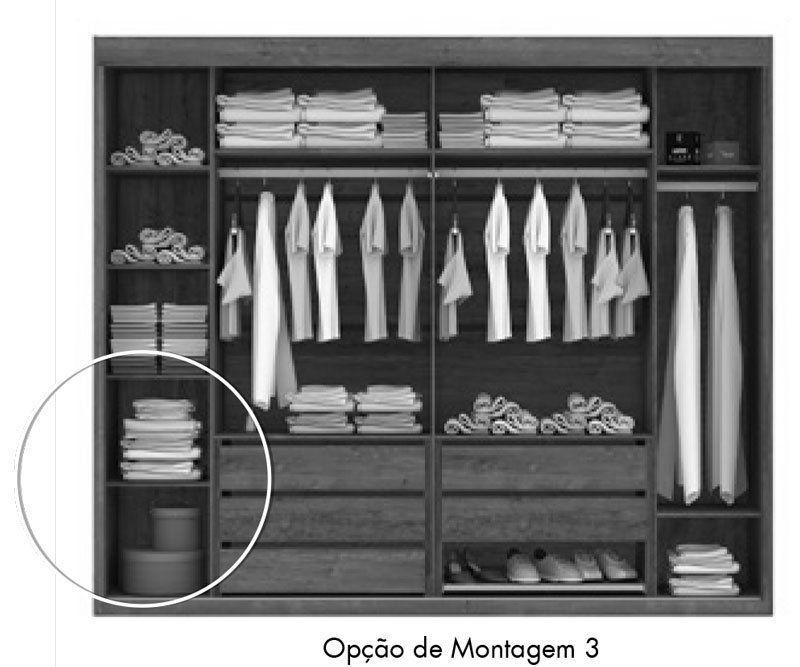 Guarda-Roupa Joinville com Espelho Canela - Mirarack