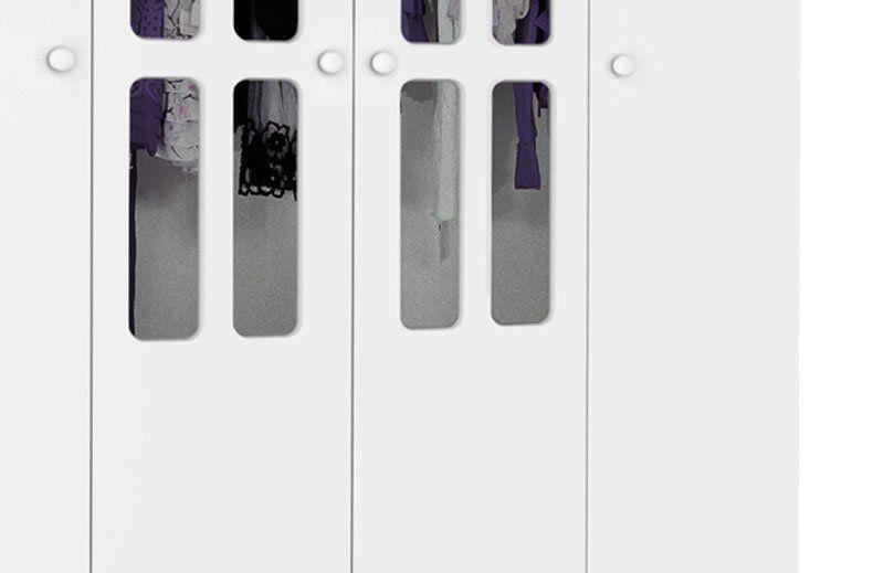 Guarda-Roupa 4 Portas Jolie Branco - JeA Móveis