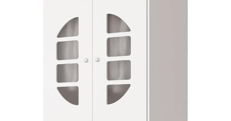 Guarda Roupa Lucas 2 Portas Branco Brilho - Imaza Moveis