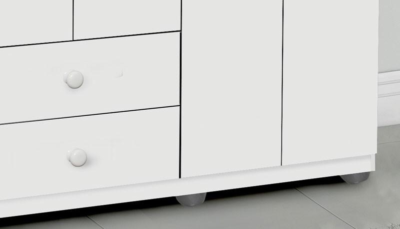 Guarda Roupa Luna 4 Portas Branco - Moveis Primus