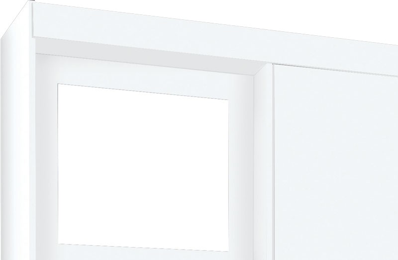 Guarda Roupa Mega 2 Portas com Espelho Branco - Móveis Primus