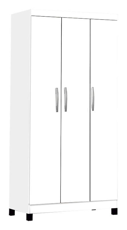 Guarda-Roupa Milão Branco 3 Portas - São Miguel Móveis