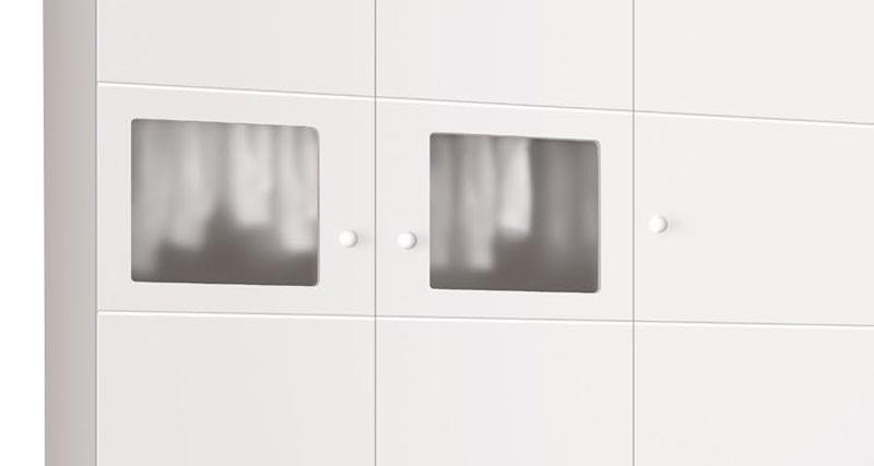 Guarda Roupa Moana 3 Portas Branco Brilho - Imaza Moveis