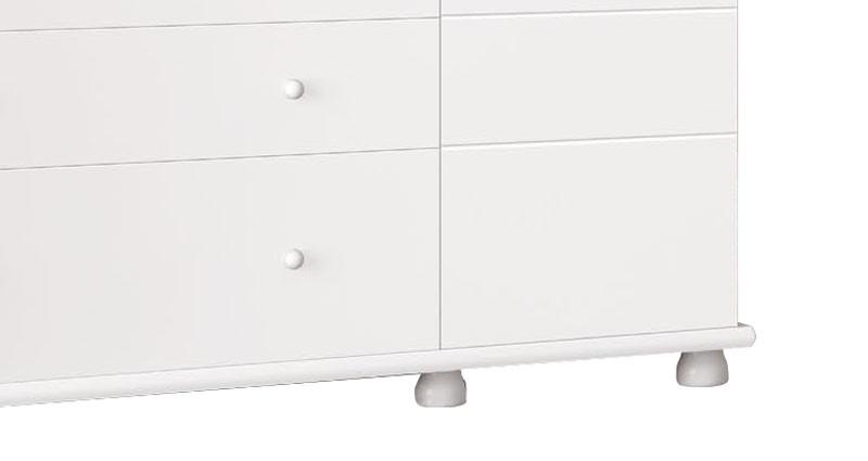 Guarda Roupa Moana 3 Portas Branco Brilho - Imaza Moveis  - MoveisAqui - Loja de móveis online!