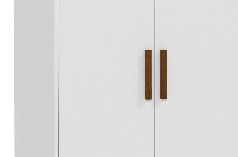 Guarda-Roupa Nature 2 Portas Branco Fosco com Eco Wood - Matic Móveis