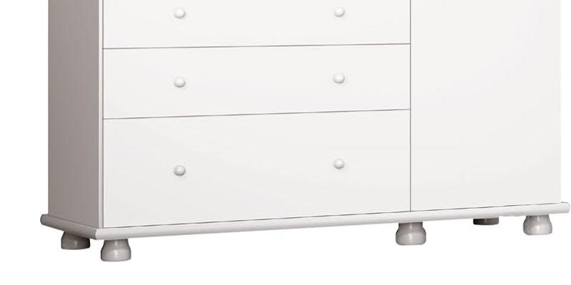 Guarda Roupa Nicoli 3 Portas Branco Brilho - Imaza Moveis