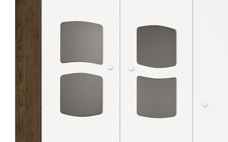 Guarda Roupa Nicoli 3 Portas Branco com Gengibre - Imaza Moveis