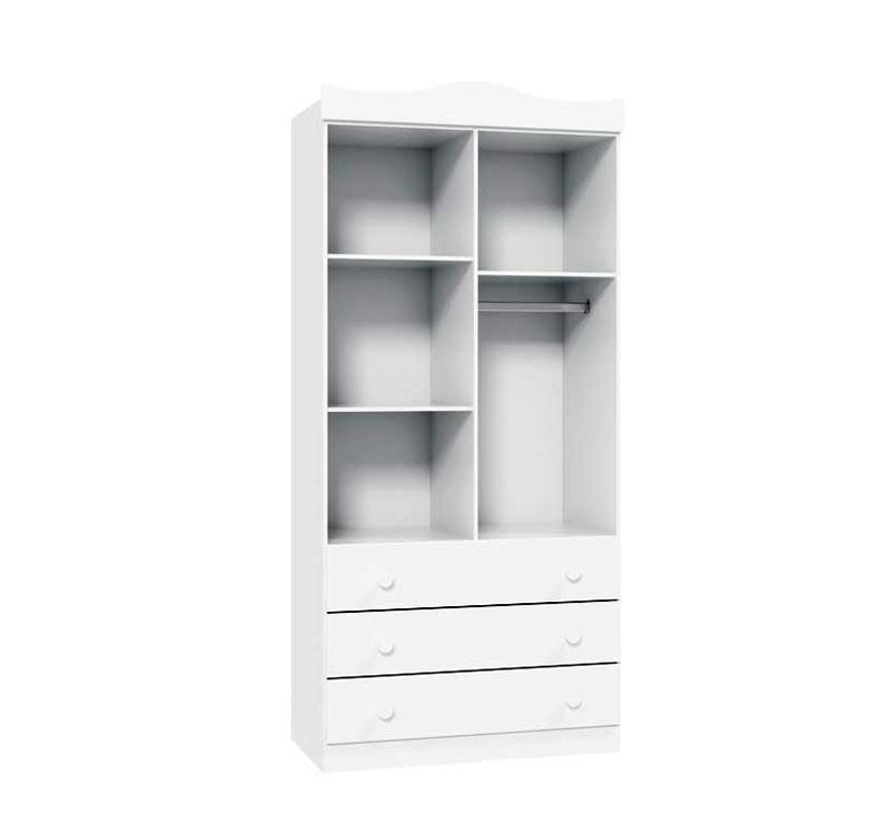 Guarda-Roupa Ninare 2 Portas Branco Brilho - Matic Móveis