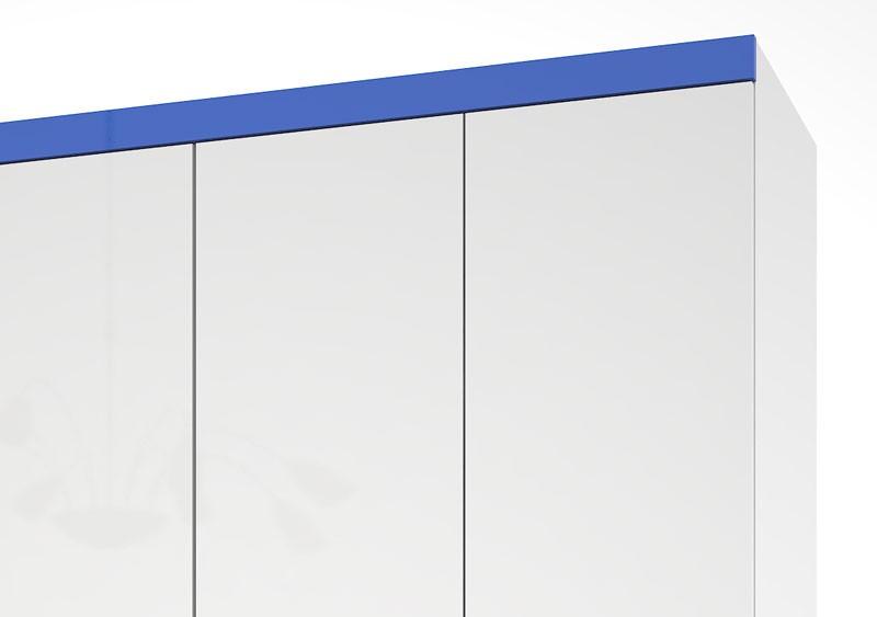 Guarda Roupa Presidente Plus III Branco com Azul - Mirarack