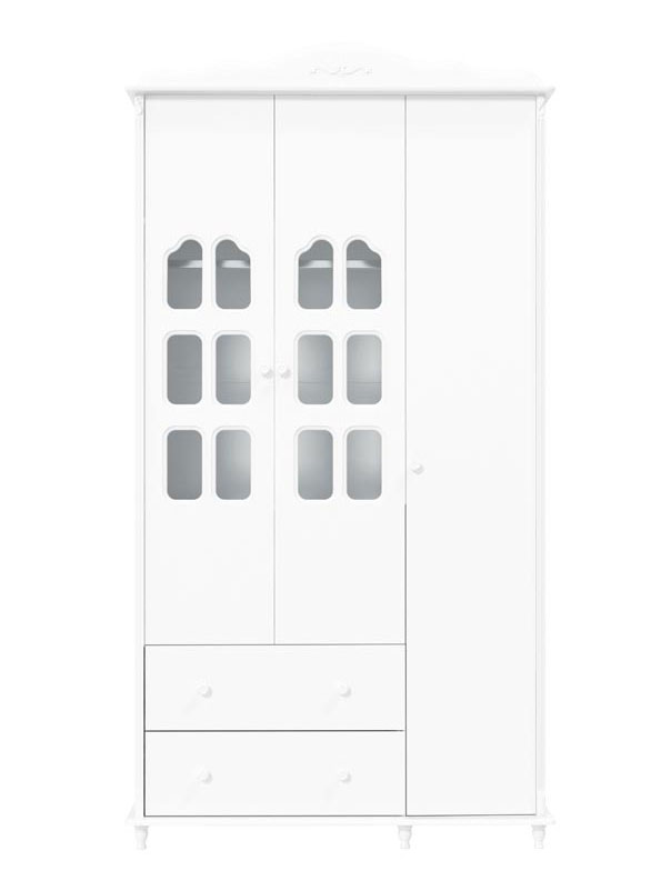 Guarda-Roupa Provence 3 Portas Branco Fosco - Matic Moveis