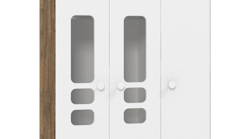 Guarda Roupa Smart 3 Portas Branco Fosco com Teka - Matic Móveis